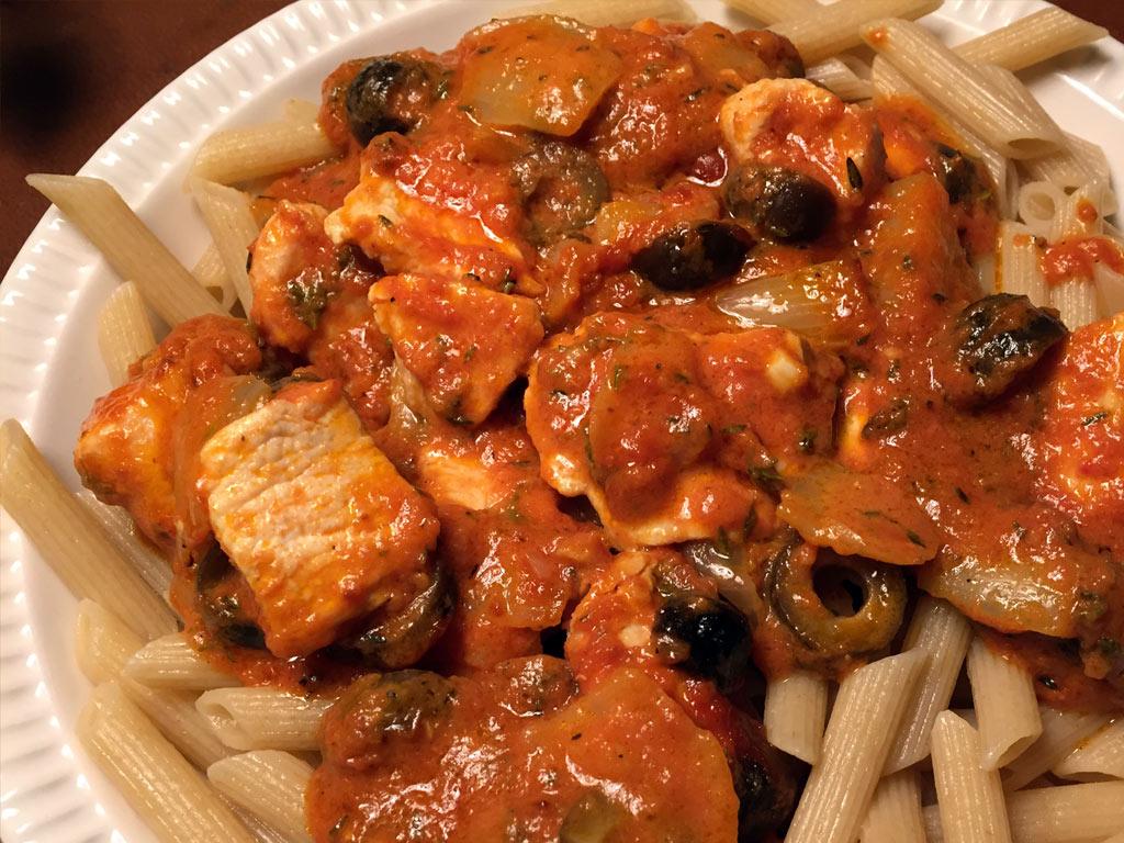 Pollo mascarpone con pasta